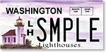 Washington state lighthouses license plate